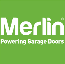 Merlin Powering Garage Doors Logo