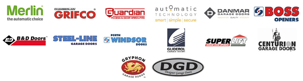 Garage doors and openers manufacturer logos